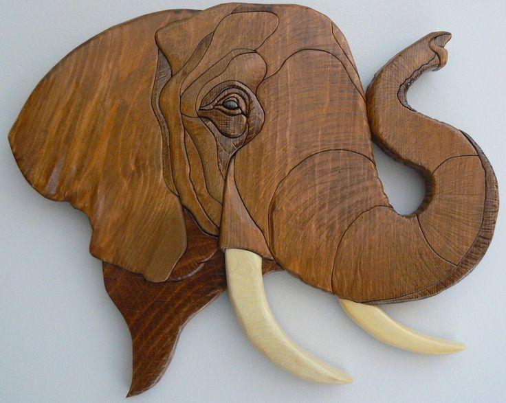 WALL INTARSIA ELEPHANT