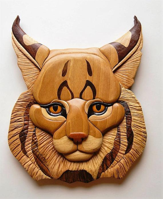 WALL INTARSIA TIGER