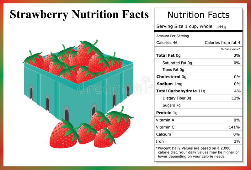 strawberry nutrition facts carton-fresh-strawberries-nutrient-label-53685028