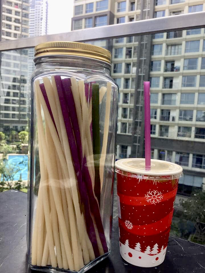 Straws made of rice flour Plant Based drinking straws