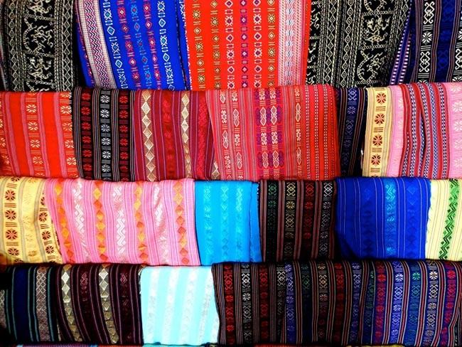 Cham Brocade Weaving Making Village Handicraft Safimex