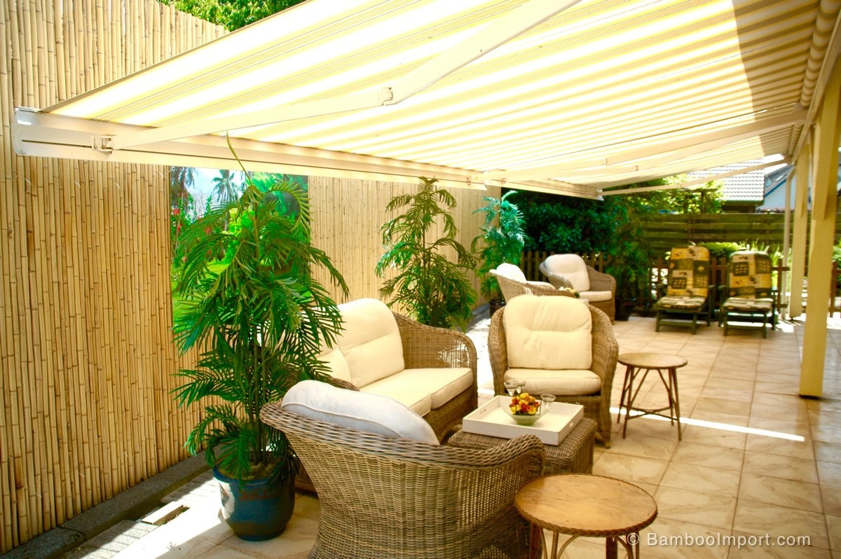 Bamboo fencing rolls