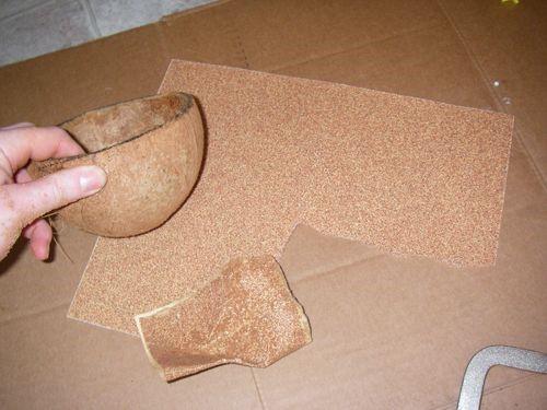 Coconut shell sanding SAFIMEX
