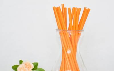 After you finish your drink, you can eat this new edible straw