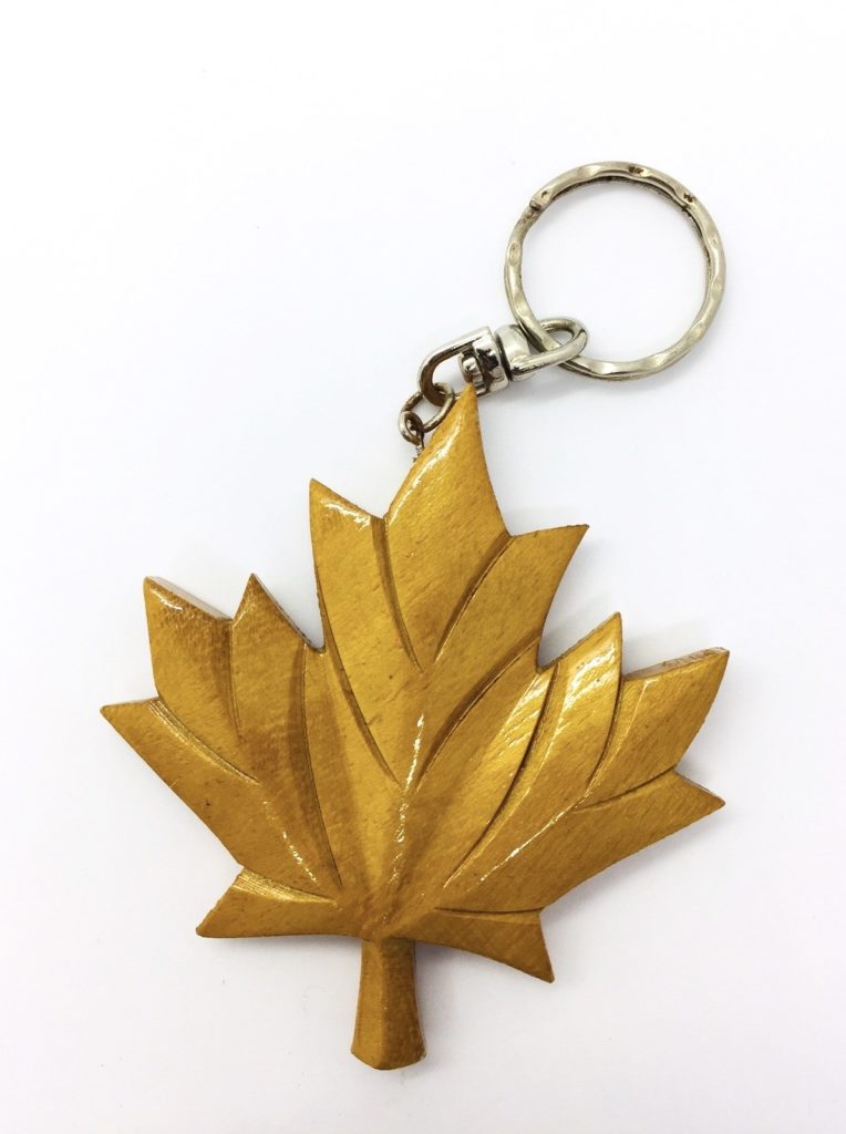 Wooden keychain SAFIMEX leaf