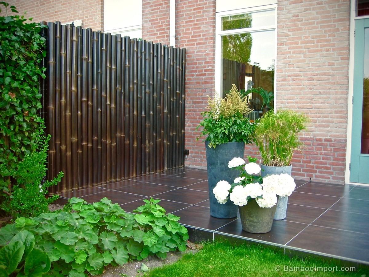 Black bamboo fence panels safimex