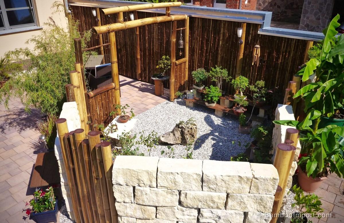 garden bamboo fencing safimex