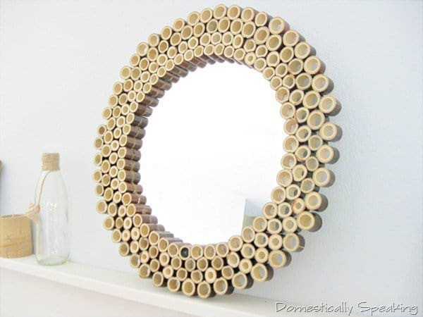 bamboo sticks to conceive a BAMBOO SUNBURST MIRROR