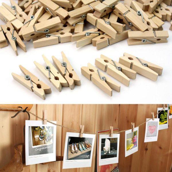 wooden clothespins